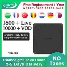 цена на France IPTV Arabic Leadcool W Android Smart TV box S905W Global QHDTV 1 Year Code IPTV Germany Belgium Algeria IPTV French Box