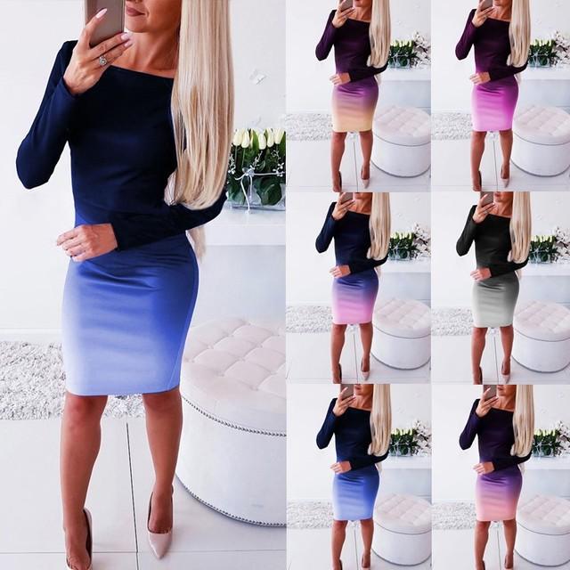 Women Casual Loose Dress Colors Spring Winter Boho Bow Full Long Sleeve Befree Mini Dress Plus Sizes Dresses Robe Femme 2020 1