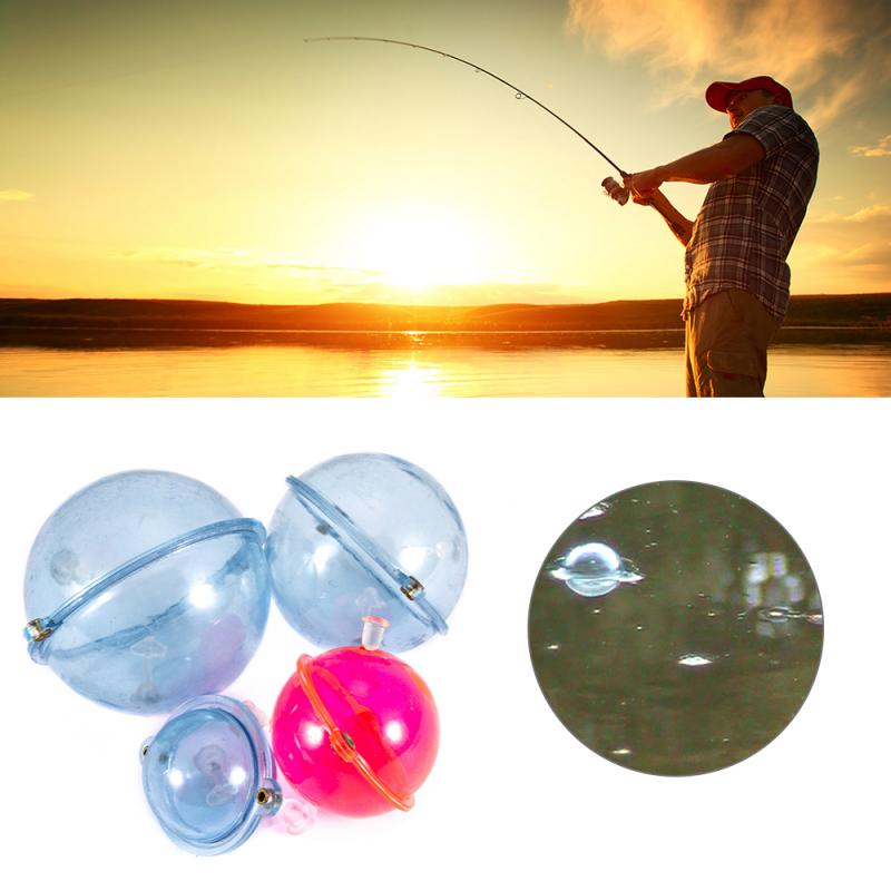5Pcs/Set Fishing Float Plastic Balls Water Ball Bubble Floats Tackle Sea Fishing Outdoor Accessories Blue Red 25/35/40mm