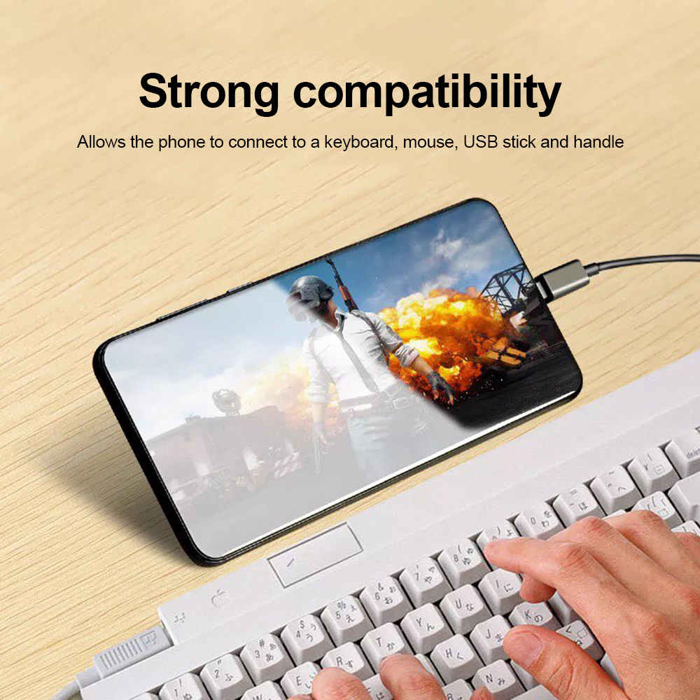 3in1 USB 3.1 Type-C To Micro USB 2.0 Power Charging Host OTG Hub Cable Adapter High Speed