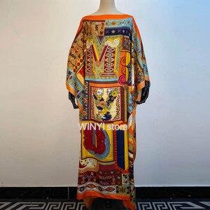 Женское богемное Платье макси с цветочным принтом, летнее платье с длинными рукавами, женское элегантное пляжное платье с v-образным вырезо...