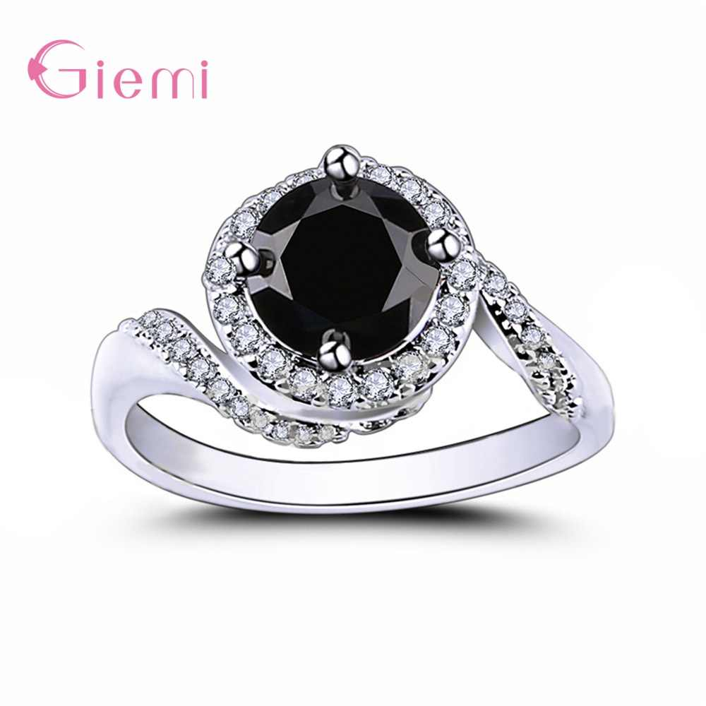 Big Discount Novel Shape Design Korean Newest Style Genuine 925 Sterling Silver Wedding Rings Elegant Fashion Jewelry For Women