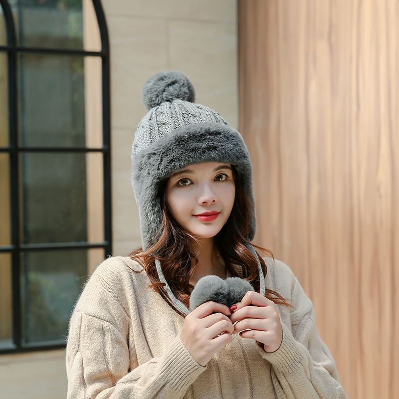 Winter Warm Pompom Hats Caps Fashion Cute Keep Ear Warm Winter Accessories For Women
