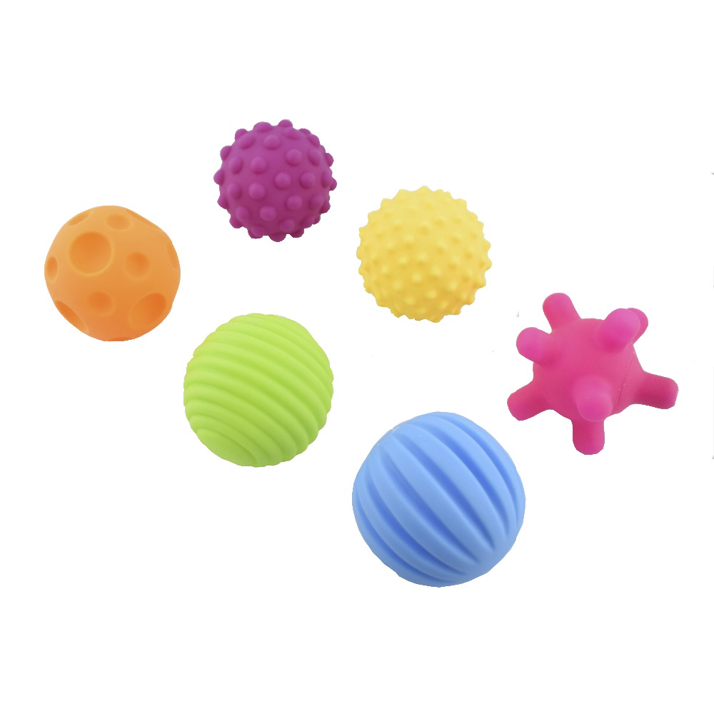 Tactile Bumpy Textured 10cm Inflatable BallSports Equipment Sensory Wise