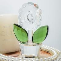 H & D 4.4 ''kristal cam çiçek heykelcik kristal vazo koleksiyonu ev ofis dekor hatıra hediye doğum günü için  noel günü