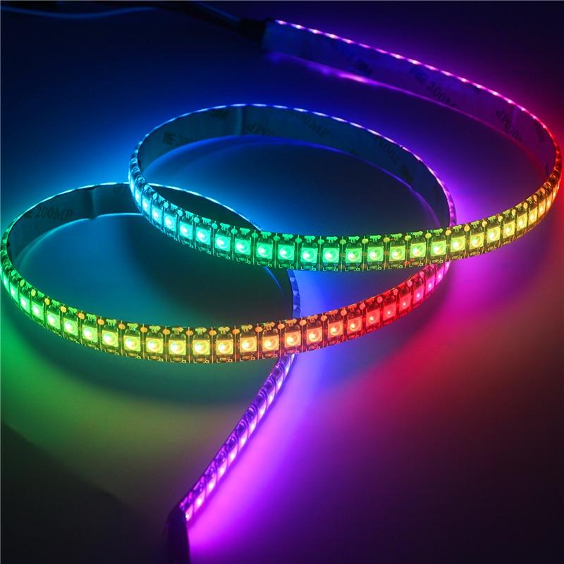 1-5m 5V WS2812B Led Strip Light Individually Addressable WS2812 Smart RGB Led Pixel Strips Black/White PCB Waterproof IP30/65/67