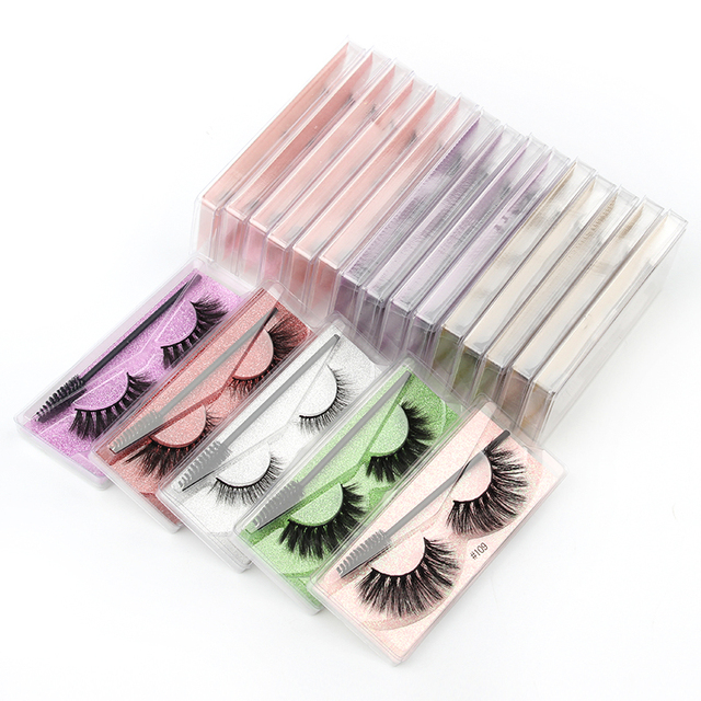 Wholesale Eyelashes 5/30/40/150pcs Fluffy 3d Mink Lashes Natural Makeup False Lashes Flase Eyelashes Set with Cosmetic Brushes 3