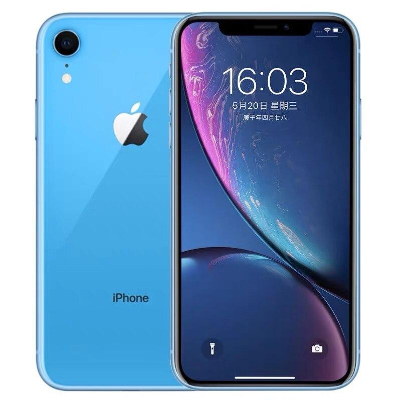 """Id original da cara do iphone xr da apple do telefone móvel da segunda mão 6.1 """"3g ram 64gb/128gb/256gb rom 4g lte apple smartphone nfc 6"""