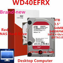 HDD Hard-Disk 4TB SATA Internal WD40EFRX 5400RPM New 64MB NAS for Brand Red 6-Gb/s