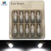 YM e-bright T10 W5W voiture lumière LED céramique 3030 2SMD 194 168 Auto ampoules lampes de lecture 12V DC blanc bleu jaune rouge vert 10 pièces