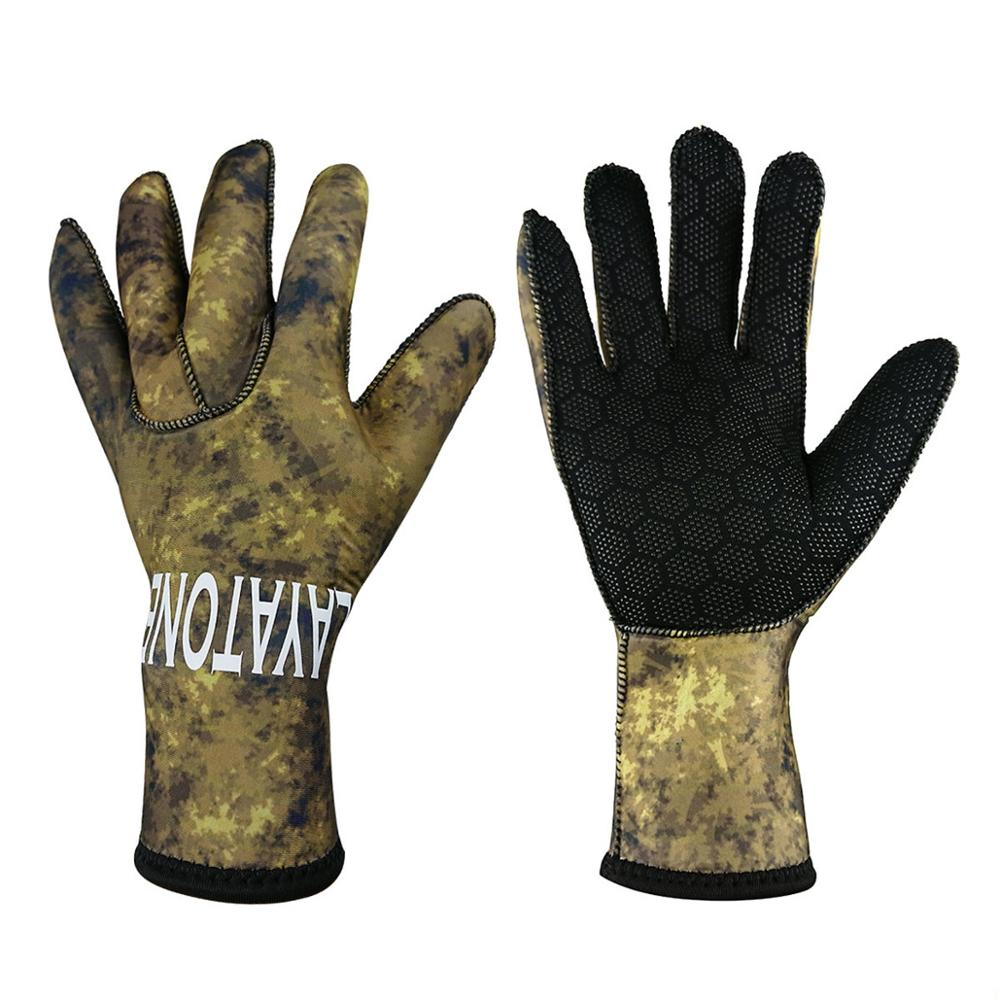Layatone Wetsuit Gloves 3mm Neoprene Scuba Diving Gloves Adult Spearfishing Snorkeling Drifting Keep Warm Non-slip Gloves New
