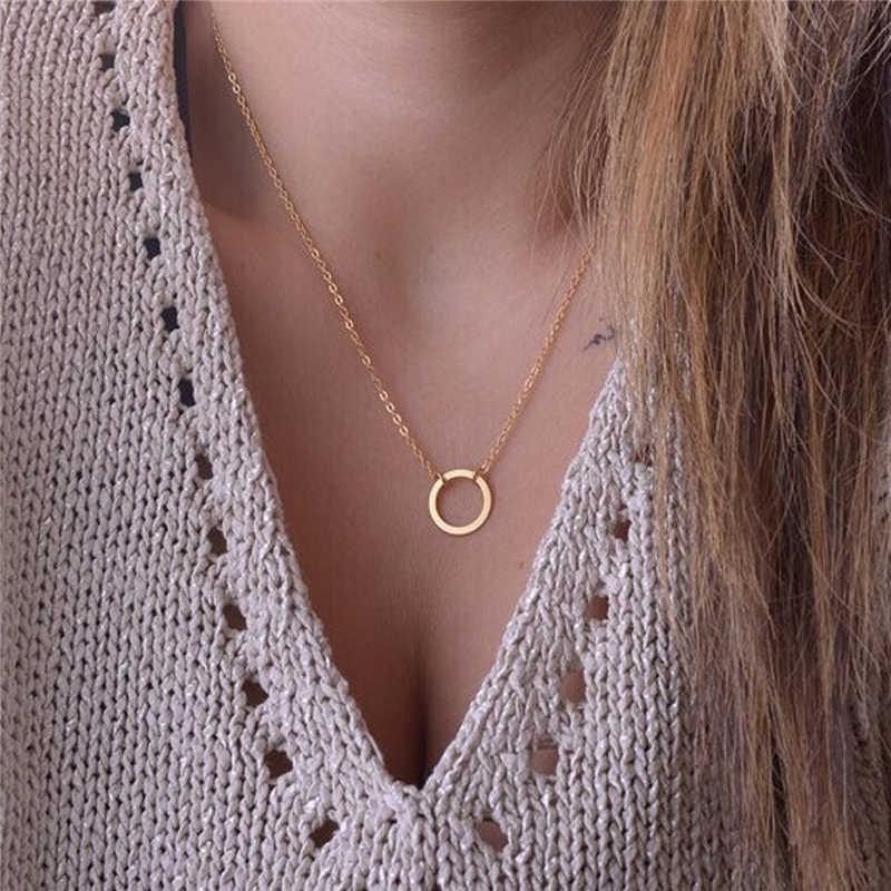 Neue Einfache Quaste Frauen Kette Halskette Silber Gold Runde Choker Anhänger Halskette Schmuck Personalisierte Halsketten Zubehör Geschenk