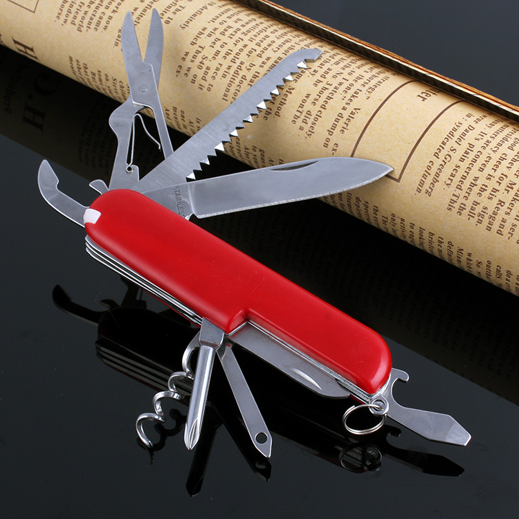 Red Swiss Champ Switzerland Stainless Steel Knife Multifunctional Folding Army Knives Outdoors Survival Knife