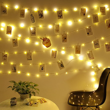 Luces LED USB para exteriores, guirnalda de luces exóticas con clip para fotos, decoración de cuento de hadas, cadena de luces con batería para Navidad, 2M / 5M / 10M