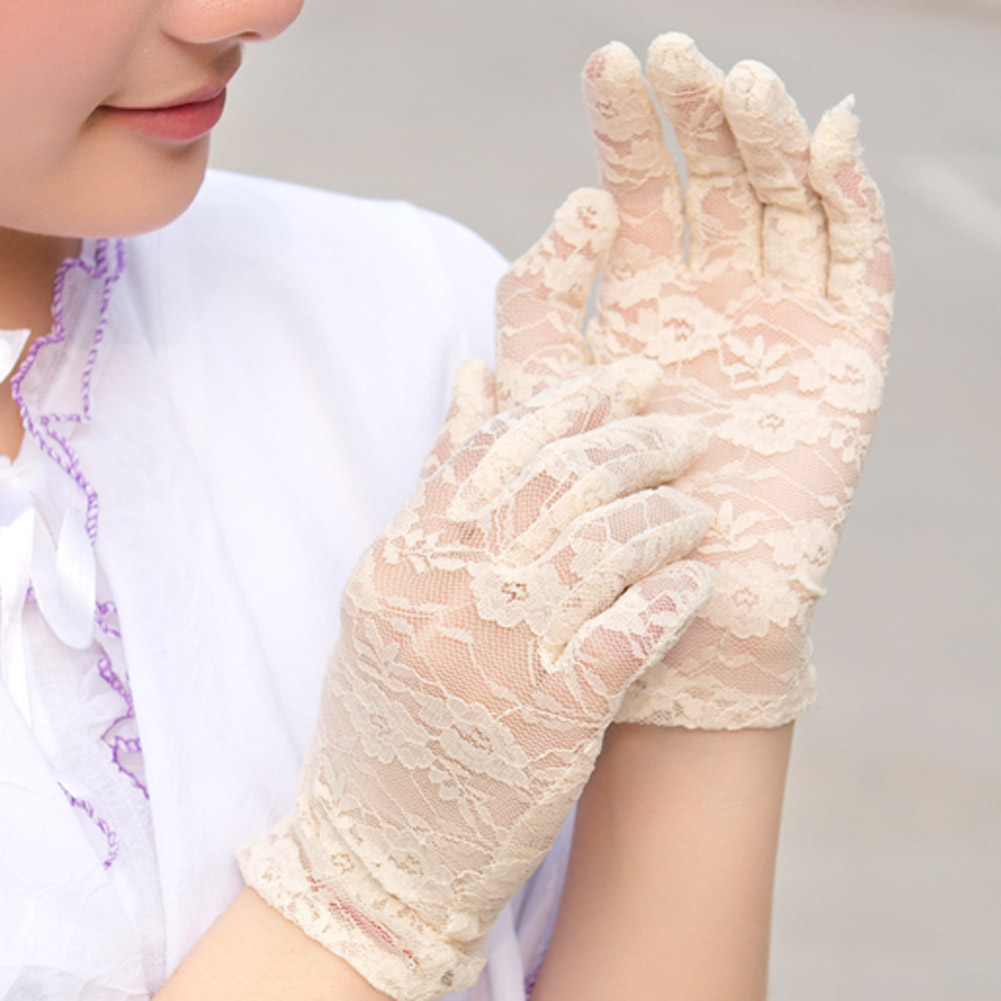 Women Lace Gloves Luxury Hollow Out Gloves