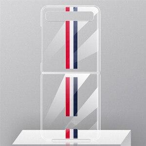 Image 1 - Custodia protettiva per Smartphone per Samsung Galaxy Z Flip accessori per telefoni cellulari custodia rigida antiurto per PC in cristallo trasparente