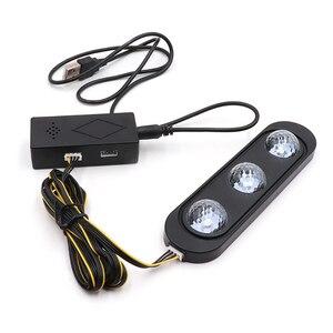 Image 4 - Niscarda 4 шт. Автомобильный светодиодный светильник с изображением звездной ноги USB атмосферный окружающий DJ смешанный цветной музыкальный ритм звук Голосовое управление Лазерная лампа
