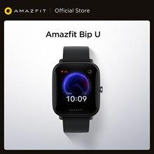 Amazfit-reloj inteligente Bip U, dispositivo resistente al agua hasta 5atm, con pantalla a Color, seguimiento deportivo, para teléfono Android iOS