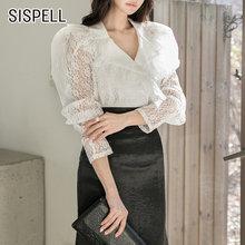 Женская кружевная блузка sispell pactwhork винтажная рубашка