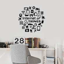 Internet of Things Vinyl Wall Decal IoT Gadgets Devices Deco