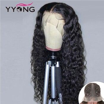 13x1 linii włosów koronki część HD przezroczysty koronki przodu włosów ludzkich peruk Remy brazylijski Water Wave ludzkie włosy koronki peruki z dziecięcymi włosami