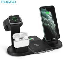 FDGAO 3 ב 1 טעינה אלחוטי אינדוקציה מטען Stand עבור iPhone 11 פרו X XS Max XR 8 Airpods פרו אפל שעון תחנת עגינה