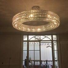 Круглая хрустальная люстра fkl светильник для гостиной спальни