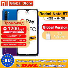 Di Stock! Global Versi Xiaomi Redmi Note 8T 4GB 64GB NFC Smartphone 48MP Quad Kamera Belakang Snapdragon 665 Octa core 4000 MAh(China)