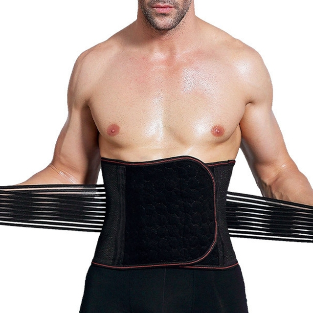 New Arrived Man Polyester Waist Cinchers Plus Size Shapewear Body Shaper Sweat Slimming Belt Fitness Corset Control Tummy Girdle