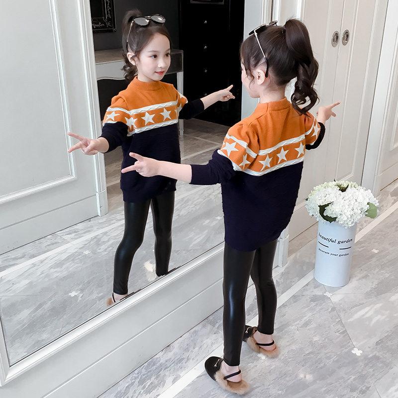 Купить с кэшбэком Sweater Girl 2020 Winter Long Sleeve Warm Spring Knitted Baby Girls Sweater Girls Pullover Top Teenage Clothes 5 7 9 11 13 Years