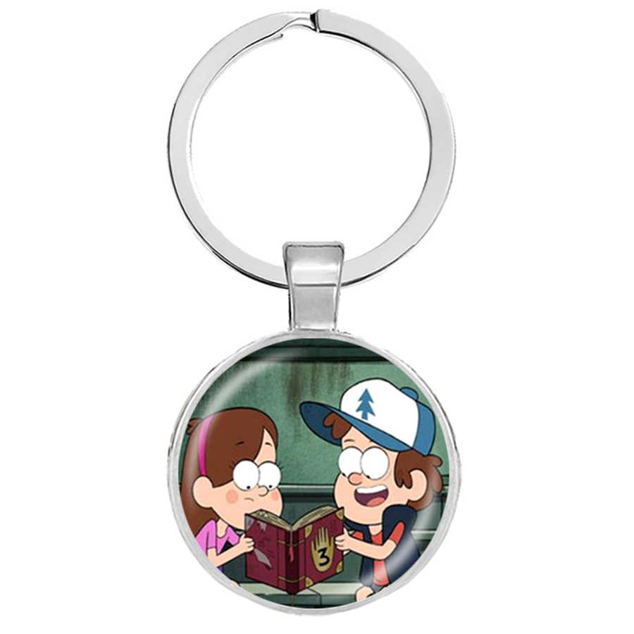 Steampunk dramat Gravity Falls tajemnice Bill Cipher koła breloki Party Time brelok Mabel Stan biżuteria Llaveros