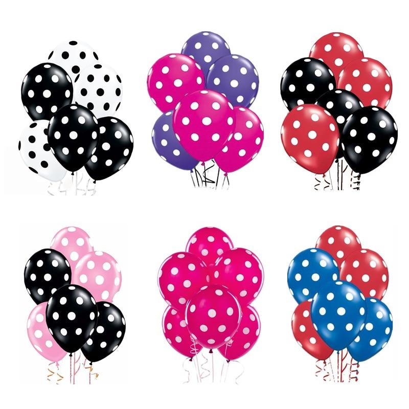 Латексные воздушные шары в горошек, 12 дюймов, 10 шт./лот