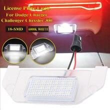 SUHU 1PC 6000K blanc 18-SMD LED numéro plaque d'immatriculation lumière pour Dodge chargeur Challenger Chrysler 300 Canbus sans erreur Auto lampe