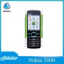Nokia 5000 odnowiony oryginalny odblokowany telefon komórkowy Nokia 5000 Radio FM Bluetooth roczna gwarancja na telefon