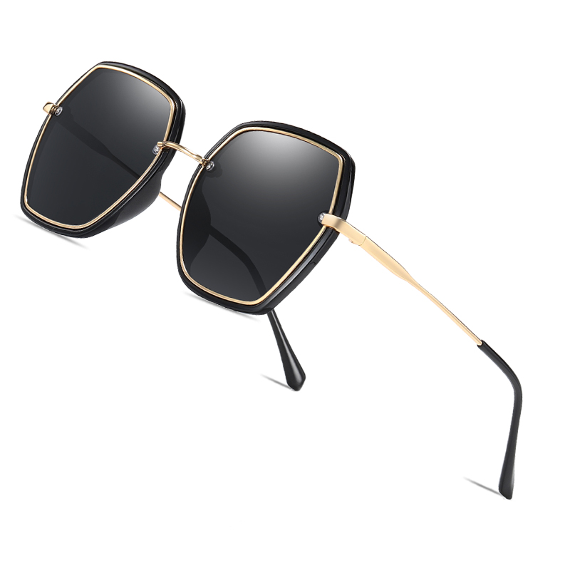AOFLY BRAND DESIGN Oversized Polarized Sunglasses Women Square Fashion Ladies Sun Glasses Female Gradient Eyewear Goggles UV400