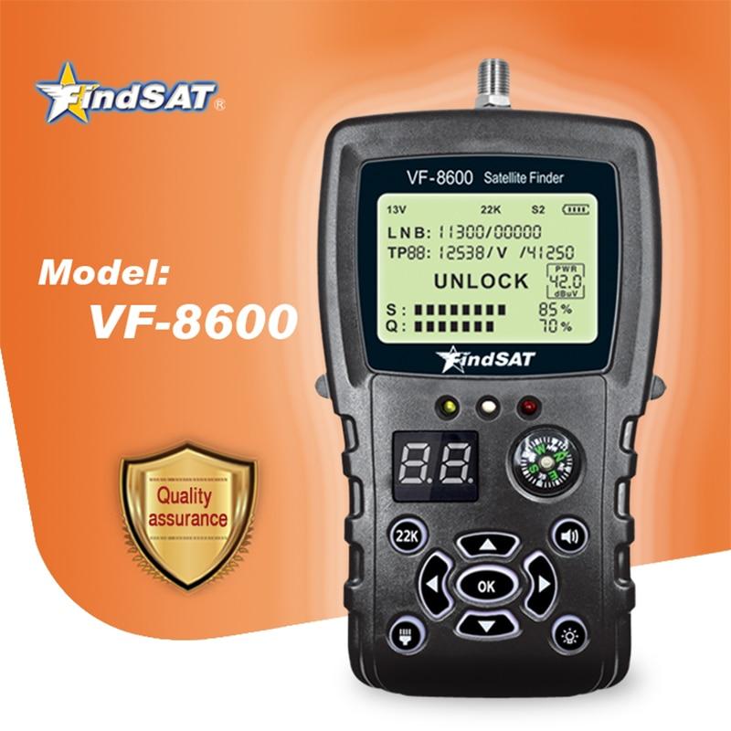 VF-8600 спутниковый искатель для спутникового приемника DVB S2/DVB Satfinder с компасом sat Finder