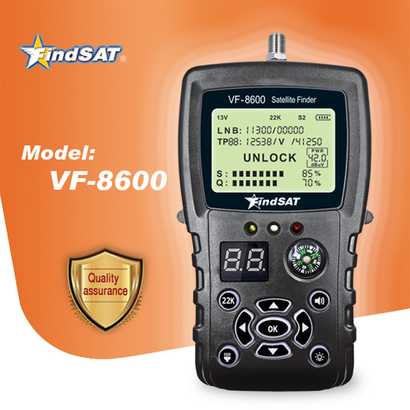VF-8600 Satellite Finder Meter For Satellite Receiver DVB S2/DVB Satfinder With Compass Sat Finder