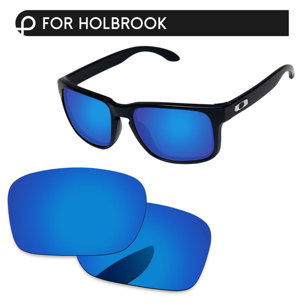 Papaviva Deep Blue Mirror Polarized Replacement Lenses For Holbrook Sunglasses Frame 100% UVA & UVB Protection