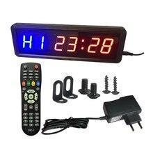 Chronomètre de gymnastique avec télécommande, chronomètre à intervalle idéal pour l'entraînement physique, avec supports muraux