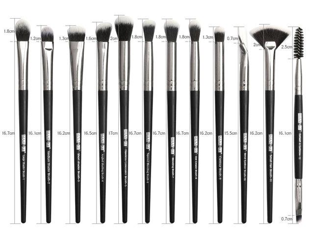 MAANGE 3/5/12Pcs Makeup Brushes Tool Set Cosmetic Powder Eye Shadow Foundation Blush Blending Beauty Make Up Brush Set Drop ship 6
