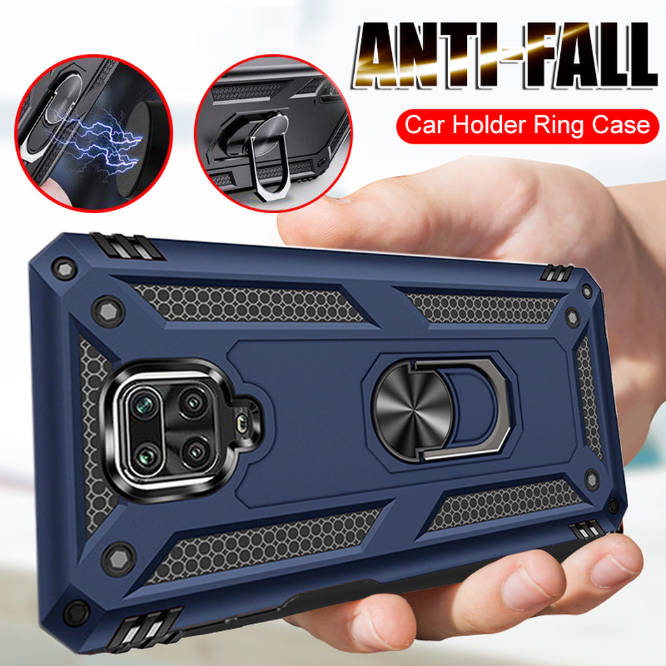 Shockproof Case For Xiaomi Redmi Note 9 9S Pro Max Case Magnetic Car Holder Cover For Xiaomi Redmi Note 7 8 8T Pro 7A 8A K20 K30