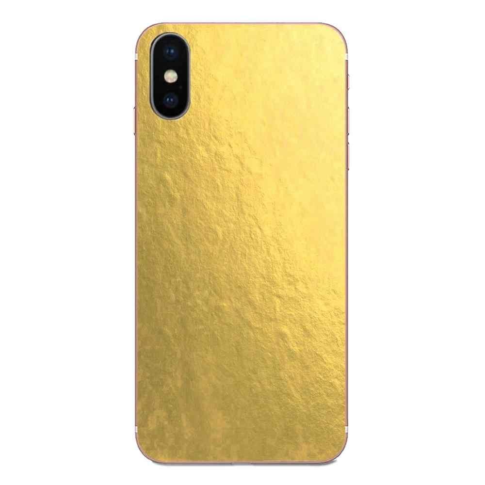 Metallic Gold Foil Wallpaper Print Soft Tpu Slim For Apple Iphone 11 Pro X Xs Max Xr 4 4s 5 5c 5s Se Se2 6 6s 7 8 Plus Phone Case Covers Aliexpress