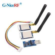 2 conjuntos sv651 500 mw 27dbm ttl/rs232/rs485 relação 3 km rádio modem 433 mhz 27dbm rf transceptor módulo