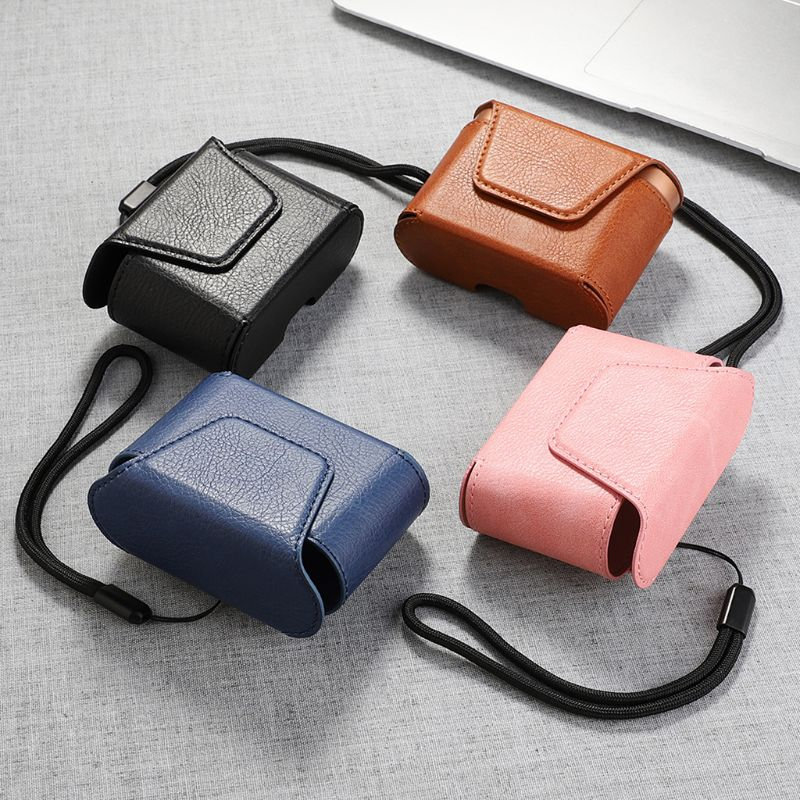 Dustproof Leather Protective Cover Case Storage Bag for Sony WF-1000XM3 Earphone