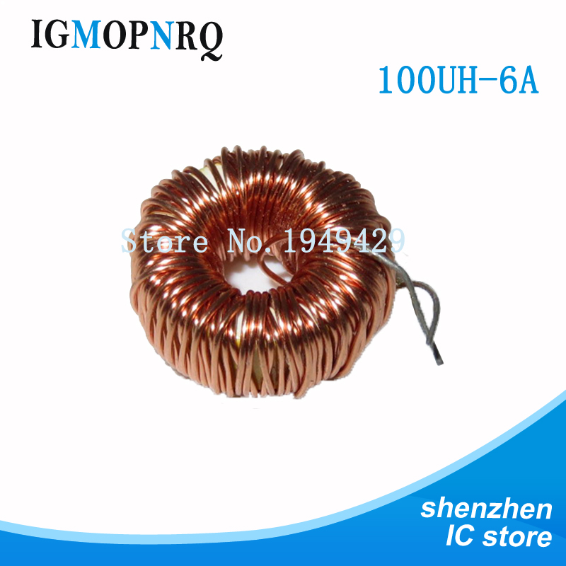 10PCS Naked 100UH (6A) 0.7MM 470UH (3A) 0.5MM Toroid 인덕터 권선 자기 인덕턴스 lm2596 image