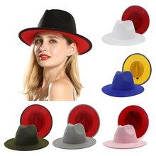 Шляпа фетровая женская с широкими полями 38 цветов