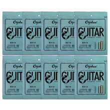 Orphee 10 Set 6Pcs/Set Guitar String RX19 Nickel Alloy String Super Light Electric Guitar Strings orphee electric bass strings hexagonal carbon steel nickel alloy wire medium light strong 4 strings guitar accessories