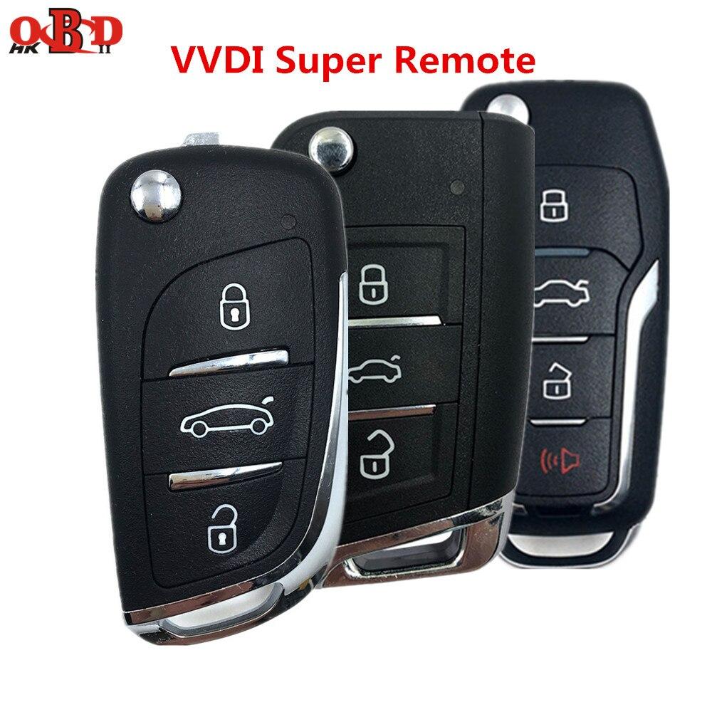 Xhorse 1/3/10 teile/los Universal 3 Tasten VVDI Super Fernbedienung Auto Schlüssel für VVDI MINI Schlüssel Werkzeug VVDI2 Schlüssel Programmierer XEDS01/MQB1/FO01