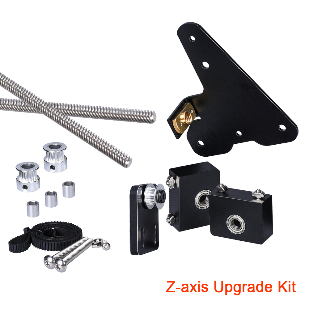New Z axis Upgrade Kit Profile Aluminum Single Dual Tension Pulley Set Bearing Bracket 3D Printer Parts For CR10 Ender3 Motor