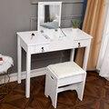 Откидной одно зеркало с двумя ящиками для хранения комод прямые ножки комод с табуретом для свадьбы домашний декор комод наборы